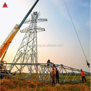 330KV High Voltage Steel tower tower for Power Transmission and Distribution