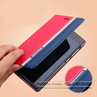 2015 New Design Wholesale Bulk Items PU Leather Stand Wallet Card Holder Sot Flip Cover Case for Wiko Getaway