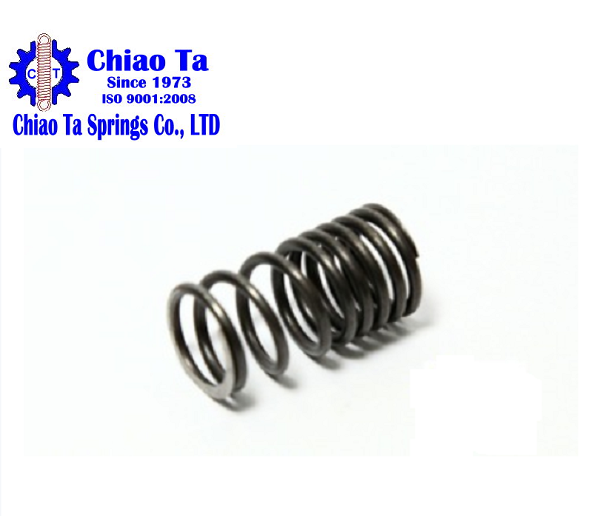 Black zinc plated Compression Spring Different Pitch