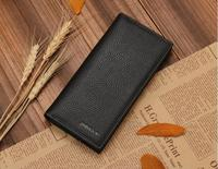 Hot sale brand name JINBAOLAI genuine cowhide leather wallet