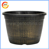 "20""inch round whiskey barrel flower pot painting designs"