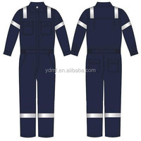 Safety Reflective Coverall Boiler Suit Overall