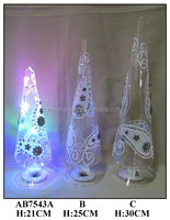 Hand Painted Glass tree with white LED Light