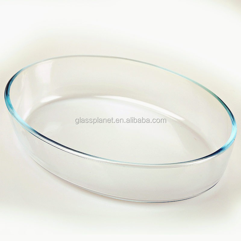 Borosilicate Glass Oval Roaster, 35 x 24.6cm