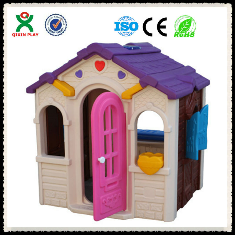 Small and beautiful kids garden playhouses/colorful plastic play house /outdoor children's playing house QX-158D