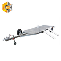 Spitfire Hydraulic Brake Flatbed Utility Aluminium Motorcycle Road Trailer For Car