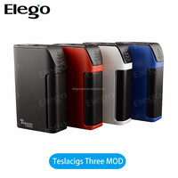Original Tesla Three Teslacigs Three 150W TC Mod Tesla 3 Electronic Cigarette 5000mAh Capacity 510 thread 4 Colors