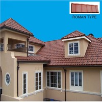 Wholesale roman roof tile,stone coated metal roof tile for wholesales