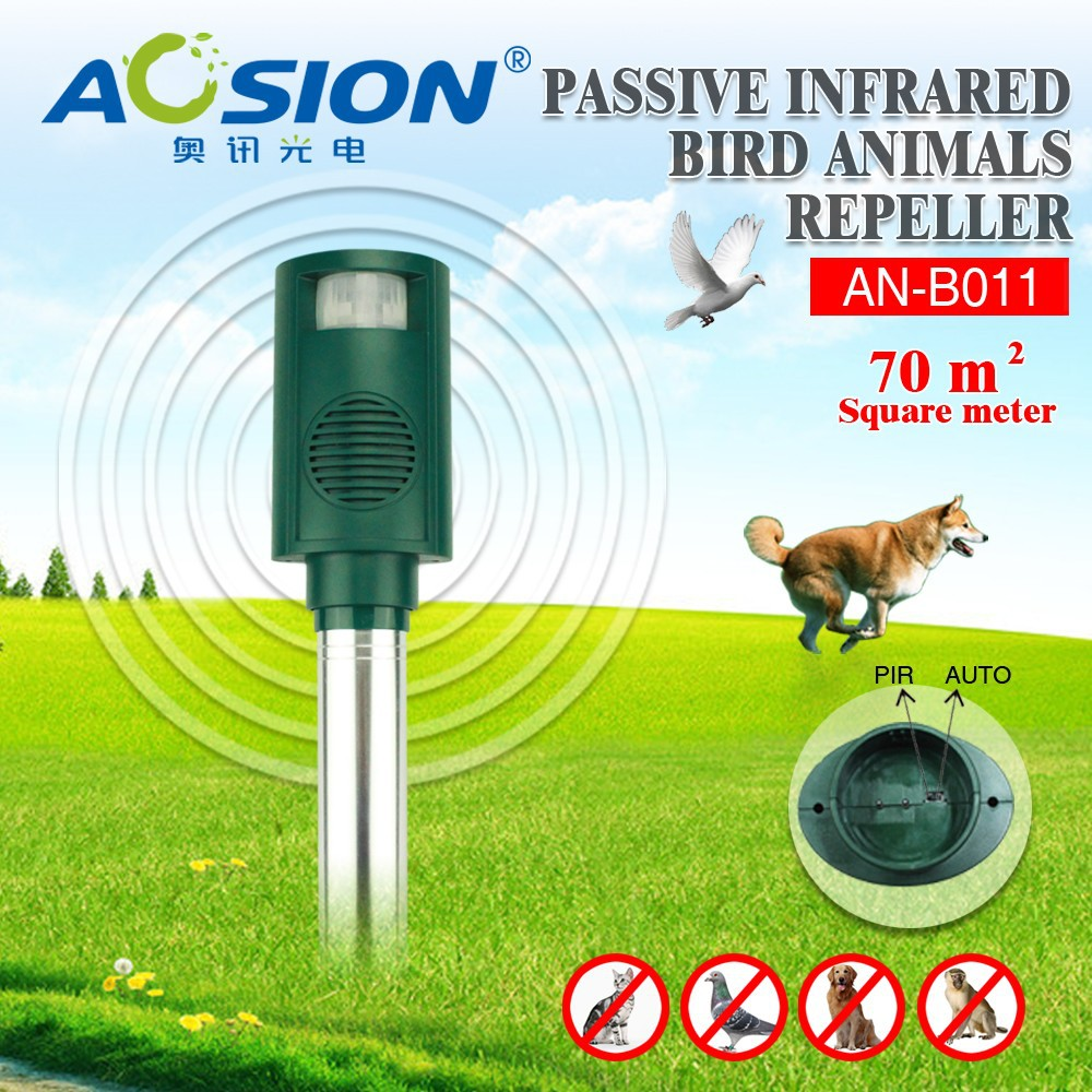 Aosion ABS used outdoor sound/light bird repeller