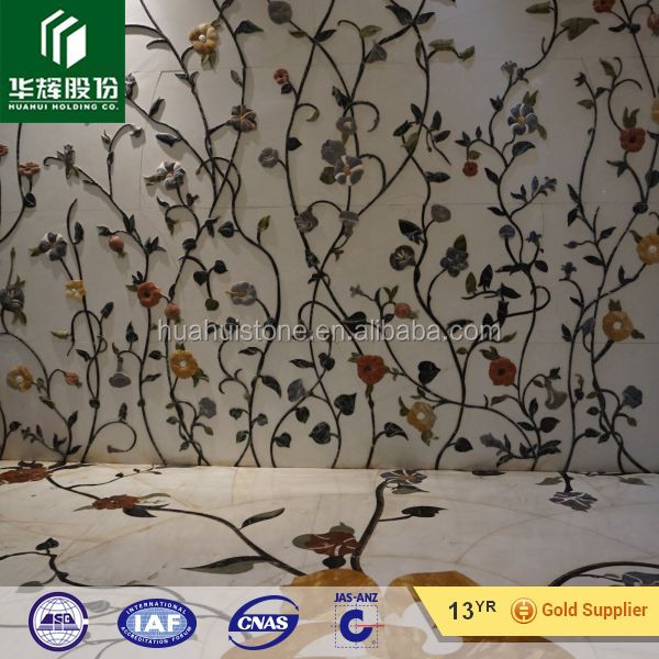 china high quality marble mosaic medallion mural, Marble waterjet exterior stone medallion