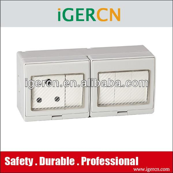 south Africa Weather protection protected wall switch and socket(IP55)