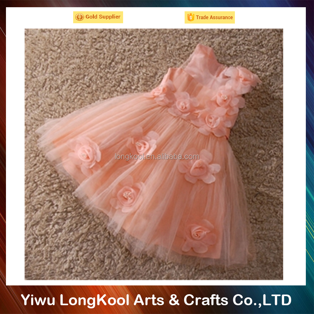High quality handmade baby girl wedding fancy tutu dress flower baby 1 year old party dress