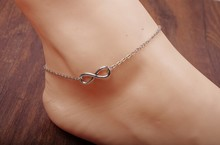 fashionable alloy 8 charms thin metal chain anklet
