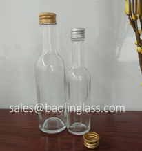 50ml 100ml small liquor glass bottle with aluminum cap
