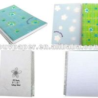 PP Cover Plastic Spiral Notebook Office