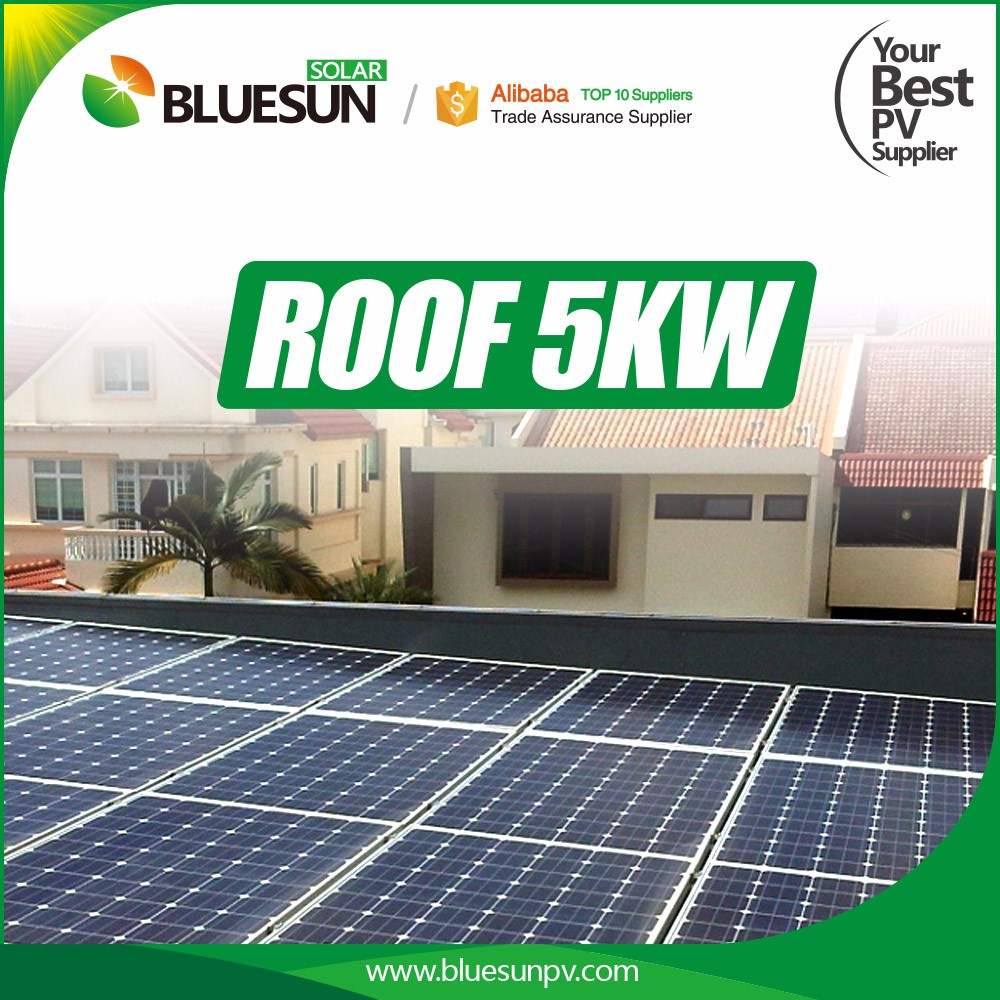 Bluesun easy installation on-grid and off-grid 5kw silicon solar systems