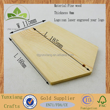 Natural pine wood tag for Clothes wood label