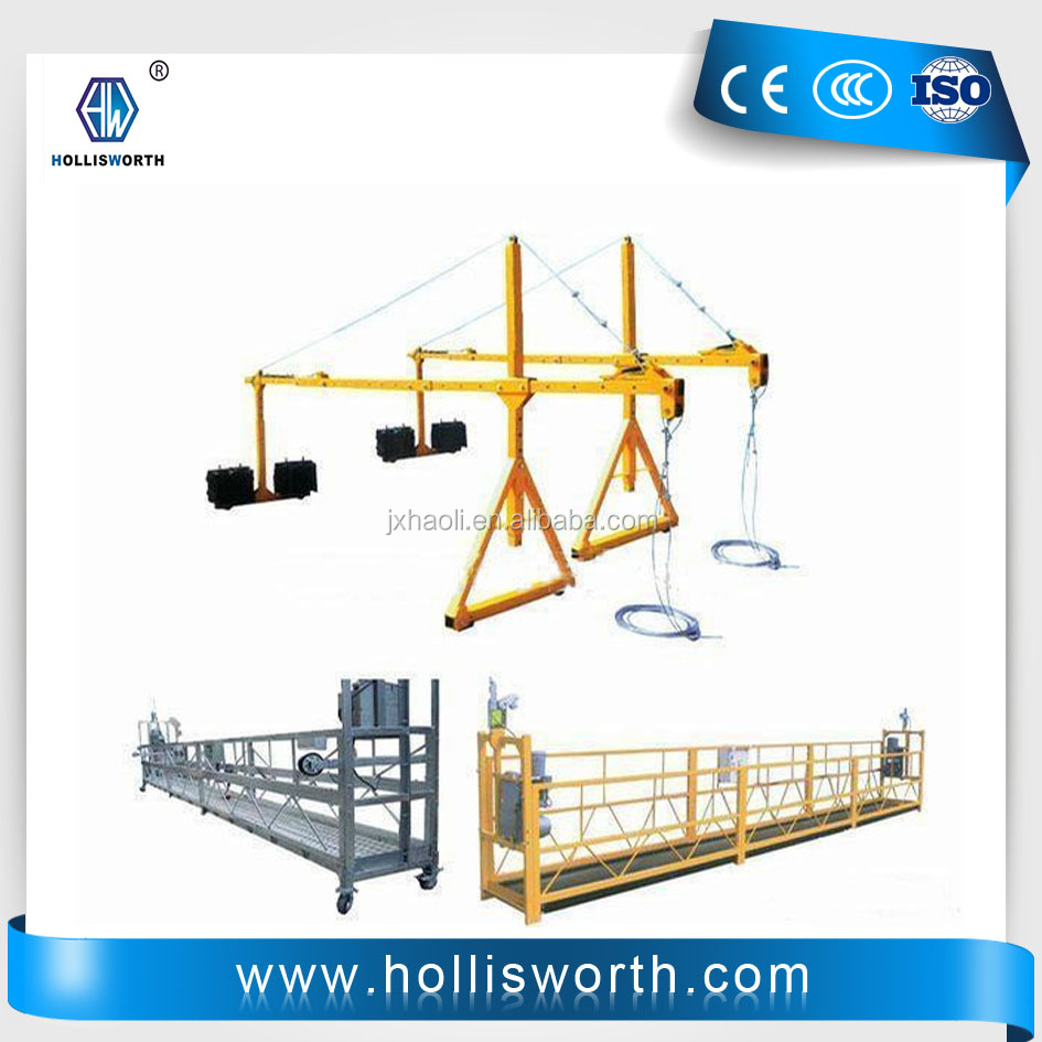 zlp 630 suspended scaffolding powered cladle window cleaning working platform