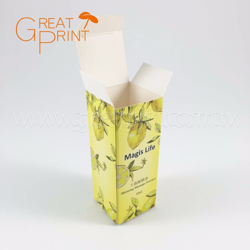 OEM Taiwan Made Natural Folding Paper Essential Oil Box