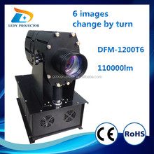 High Brightness 100000lm multiple logo gobo projector light outdoor building wall