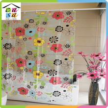 Wholesale new design and fashion pvc shower curtain