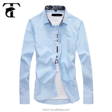 Custom Formal Wear wholesale tailor made latest Slim Fit designs hand work new style cotton boys mens dress shirt