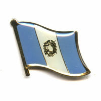 Cheap custom unique metal badge lapel pins Guatemala flag pin gifts crafts