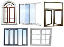 French type aluminum window for home usage