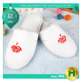 Coral Velvet Hotel Slippers / Chinese Embroidered Flower Fleece Household Slippers / Luxury Custom Logo Velour Indoor Slippers