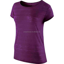 2016 Hot Sale Cheap Plain Loose Fit Running Shirts Dry Fit T Shirts for Women Short Sleeves