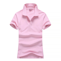 2016 new fashion factoy high quality women polo shirt with hiqh quality