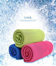 Hot Sale Coolcore Cool Sports Towel,CZD-019 Sport Quick Dry Towel 100cm Length for Travel Outdoor