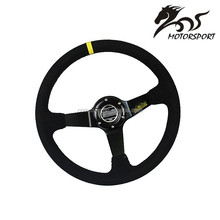14inch 350mm Suede Leather Steering wheels