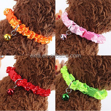 New Fashion Flower Pet Dog Cat Collar With Jingle Bell