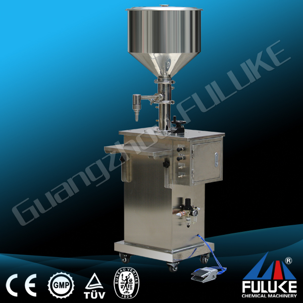 FULUKE semi auto small digital control pump liquid filling machine/made in Yangzhou AIK