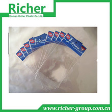 Custom clear poly packaging plastic bags for hair extensions