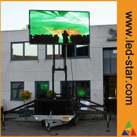 mobile trailer outdoor P8 led screen from china manufacturer