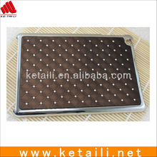 Luxury Glittering Diamond Plating Plastic Protective Cover for Apple iPad