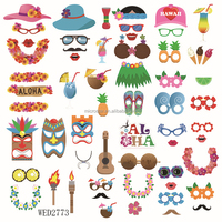 Hawaiian Beach Pool Parties Summer Festivals Celebrations DIY Party Supplies for Holiday Luau Hawaii Themed Photo Booth Props