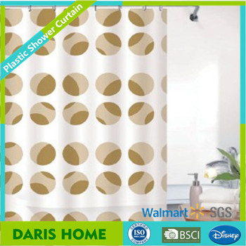 China Commercial Shower Curtains With Printing Shower Curtain With Plastic Rings Buy China
