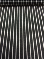 Shadow Black and White Stripes Cotton Fabric