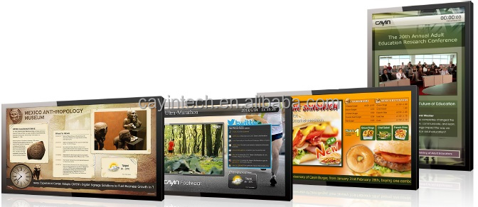 2x1 Video wall Full HD Digital Signage Player with Software