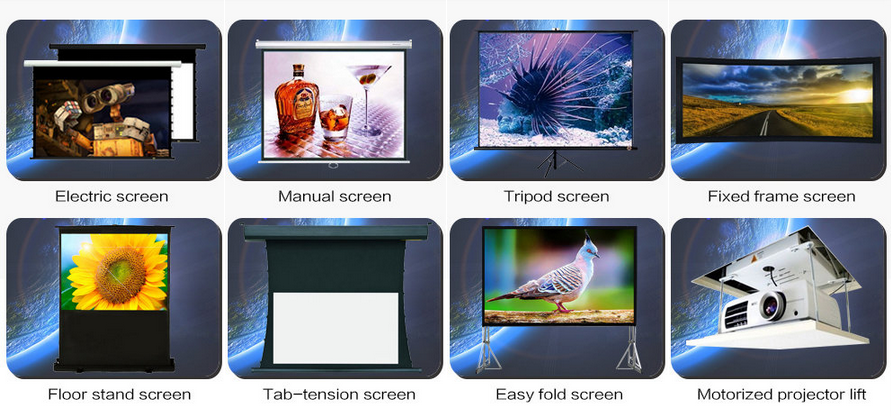 "4:3 72"" Fiberglass Holographic Manual Projection Screen for Wedding Used"