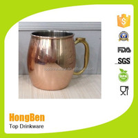 New arrival stainless steel copper mule mug /Moscow mule copper mug/solid copper mug