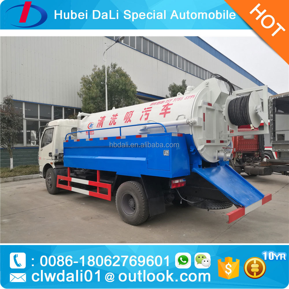 vacuum sewer combined high pressure truck 5000L sewage tank with 2000L water tank