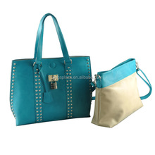 2016 new stylish alibaba china CC42-092 fashion two in one bags women bags set