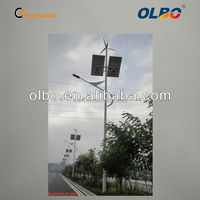 Reliable and safe wind and wind solar hybrid street light LED green power street light