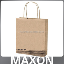 Alibaba recycle brown color plain kraft paper bag or with logo printing supplier in guangdong