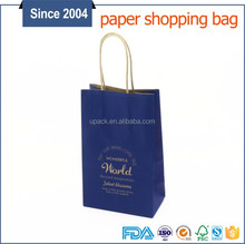 100% quality ensure fashionable design small shopping paper twisted handle carrier bag
