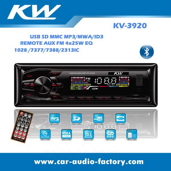 1 DIN Car Radio Bluetooth 12V detachable panel car audio mp3 player